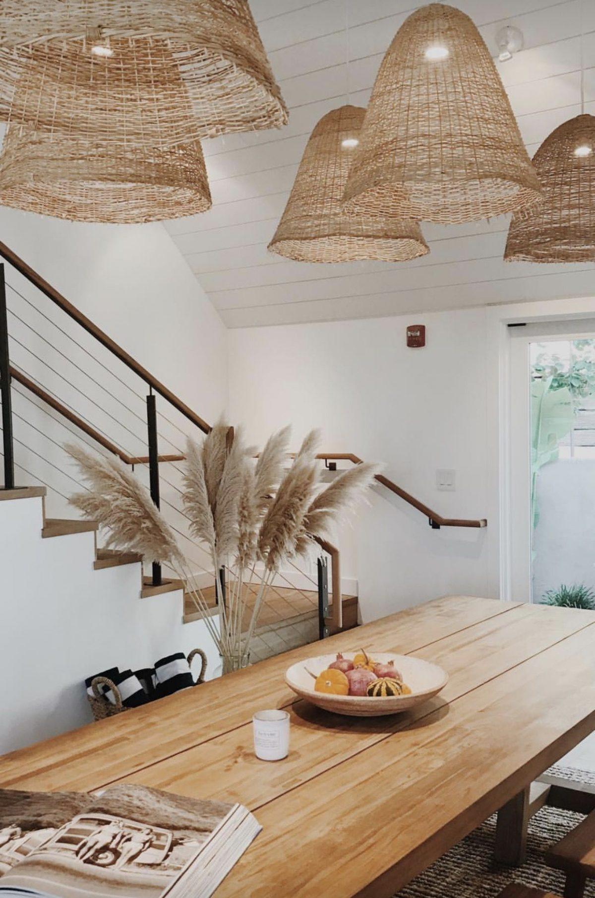 l'herbe de la pampa cuisine salle à manger - blog déco - clem around the corner