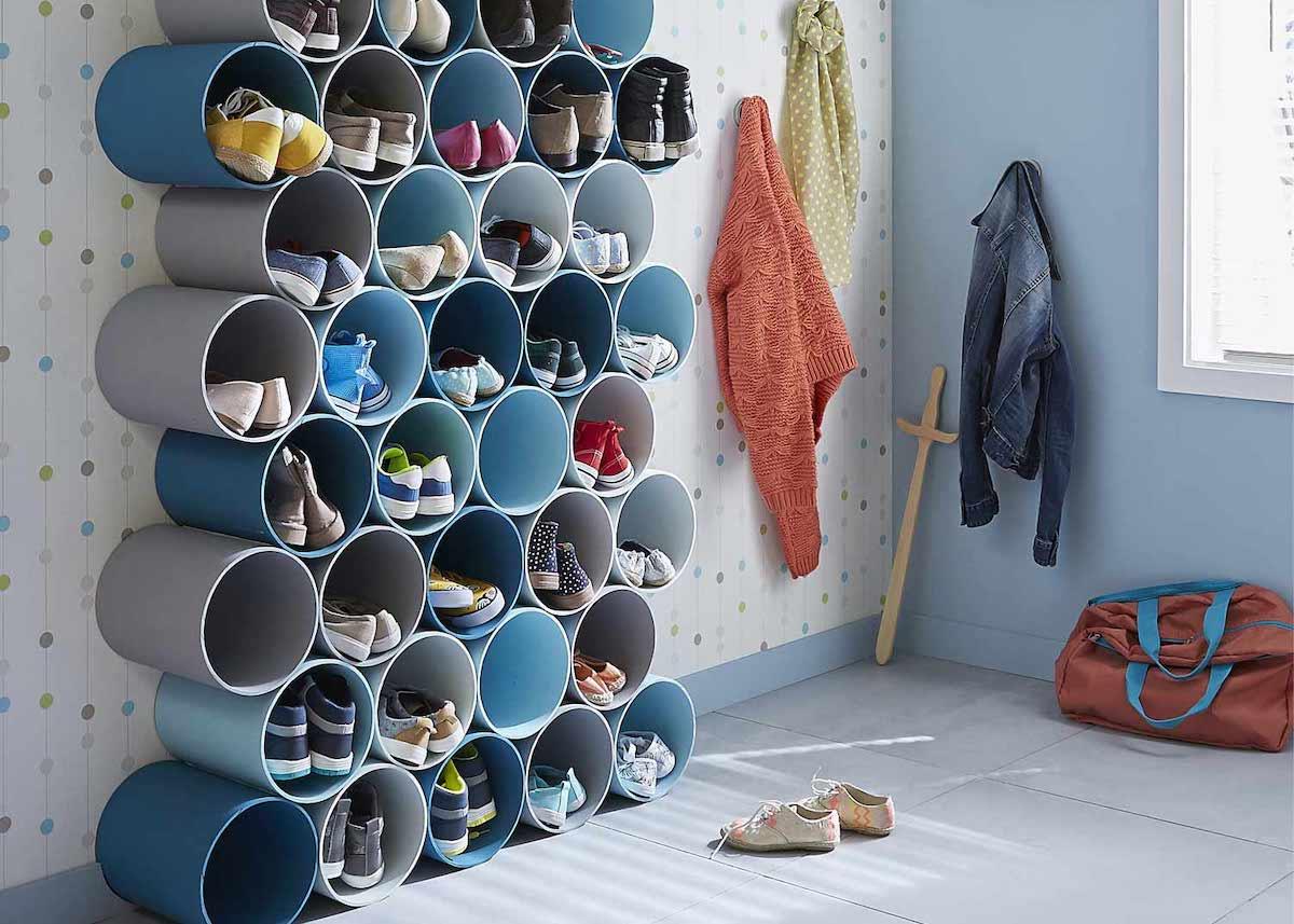 astuces pour ranger les chaussures diy chambre enfant - blog déco - clem around the corner