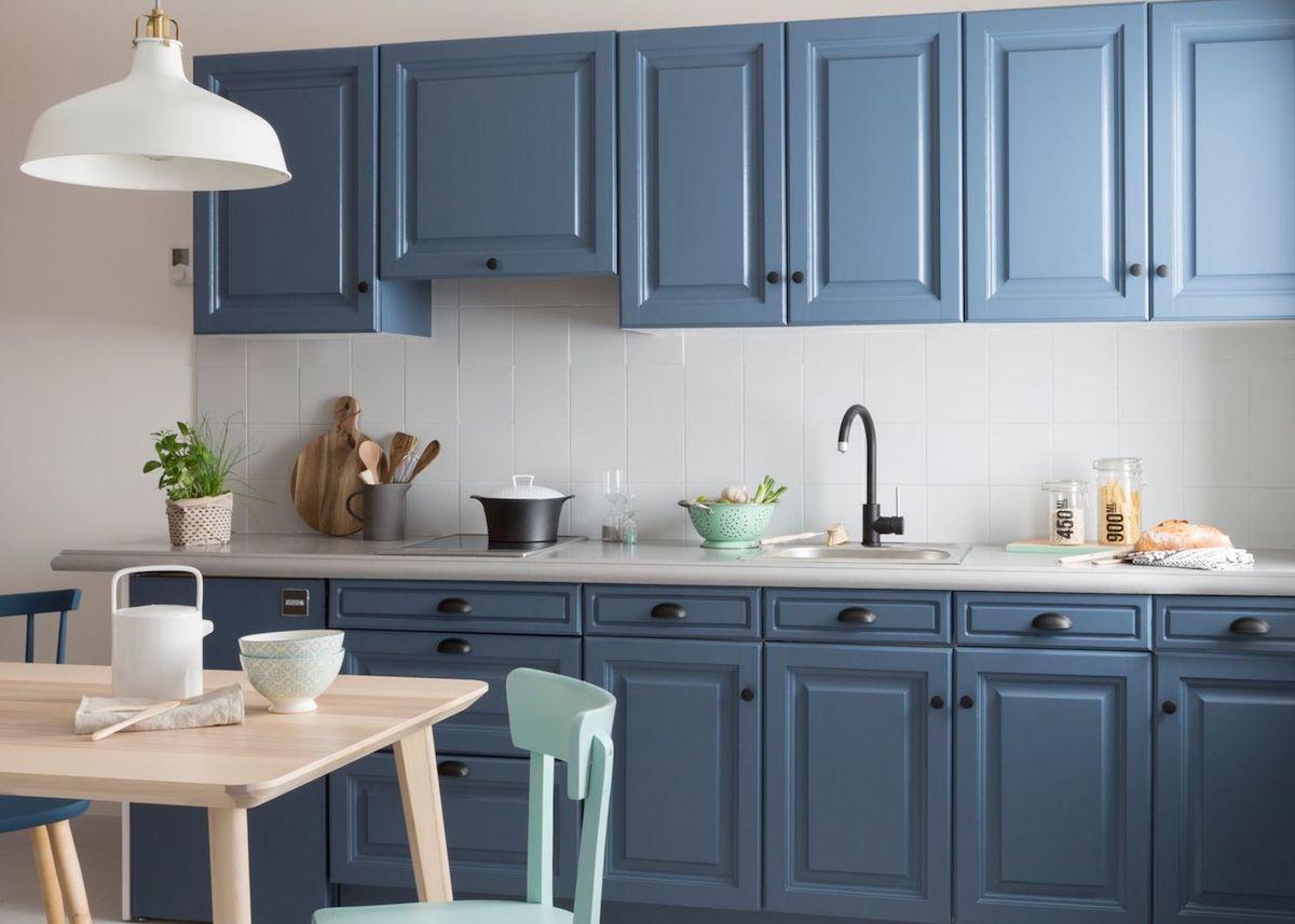 Cuisine Blanche Et Bleu déco cuisine blanche et bleue - blog déco - clem around the