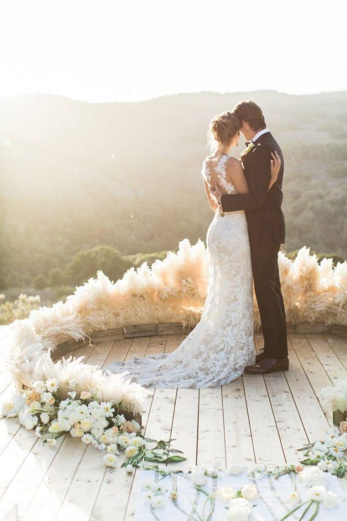 l herbe de la pampa feuille déco mariage - blog deco - clem around the corner