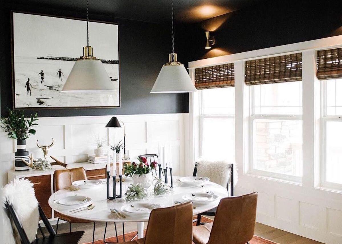 Déco Salle À Manger Vintage plafond noir : comment oser - blog déco - clem around the corner