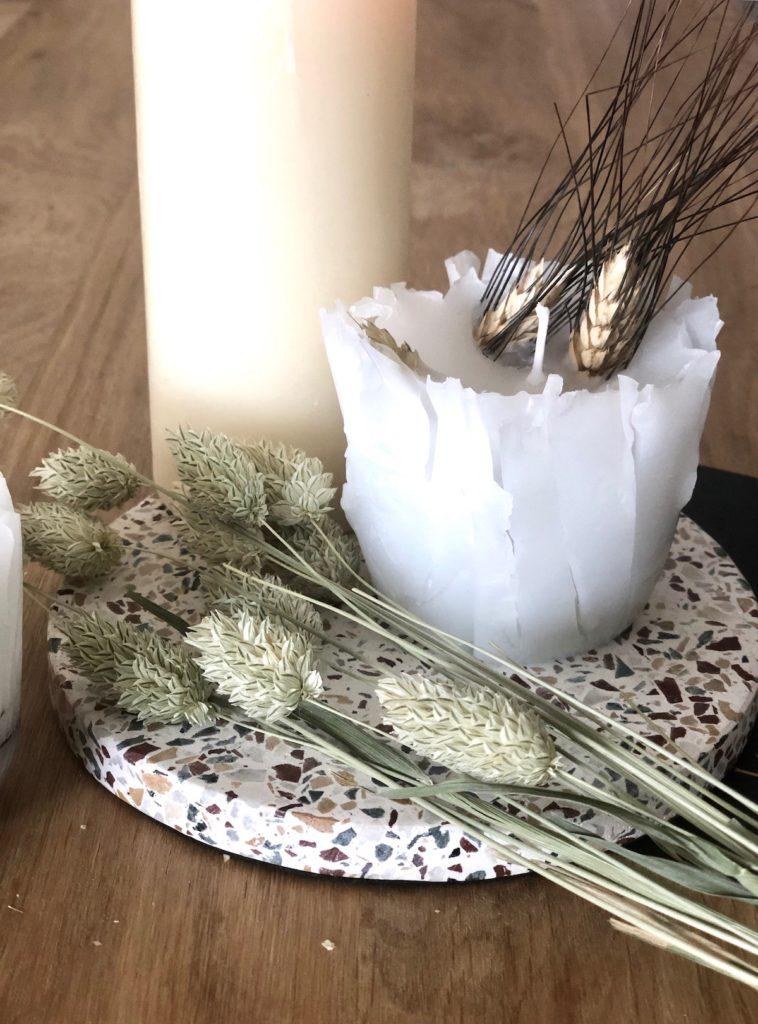 bougie fleur séchées diy tutoriel technique conseil - blog décoration interieur - clem around the corner