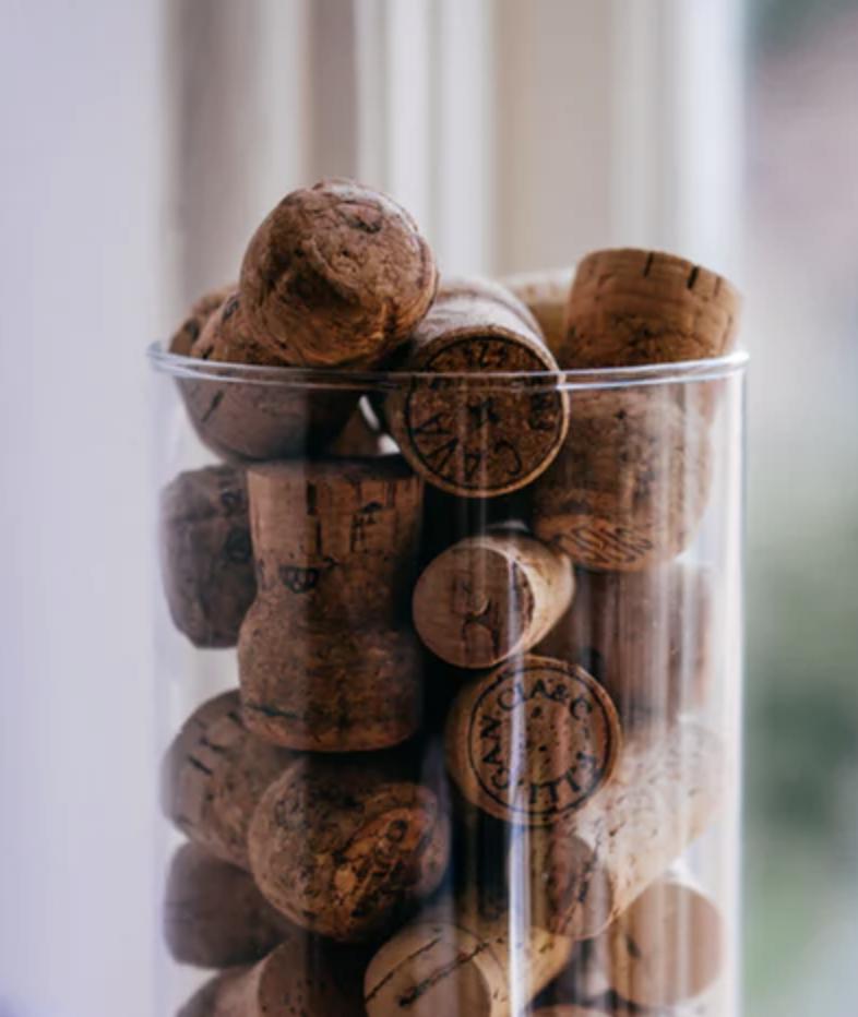 bouchon liège dans un bocal en verre déco décoration clematc