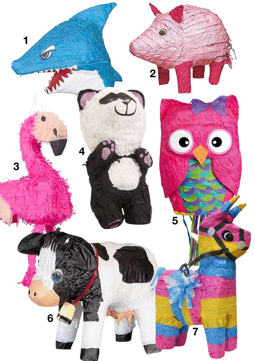 ou trouver une piñata pas chere jeu flamant rose requin cochon panda chouette vache
