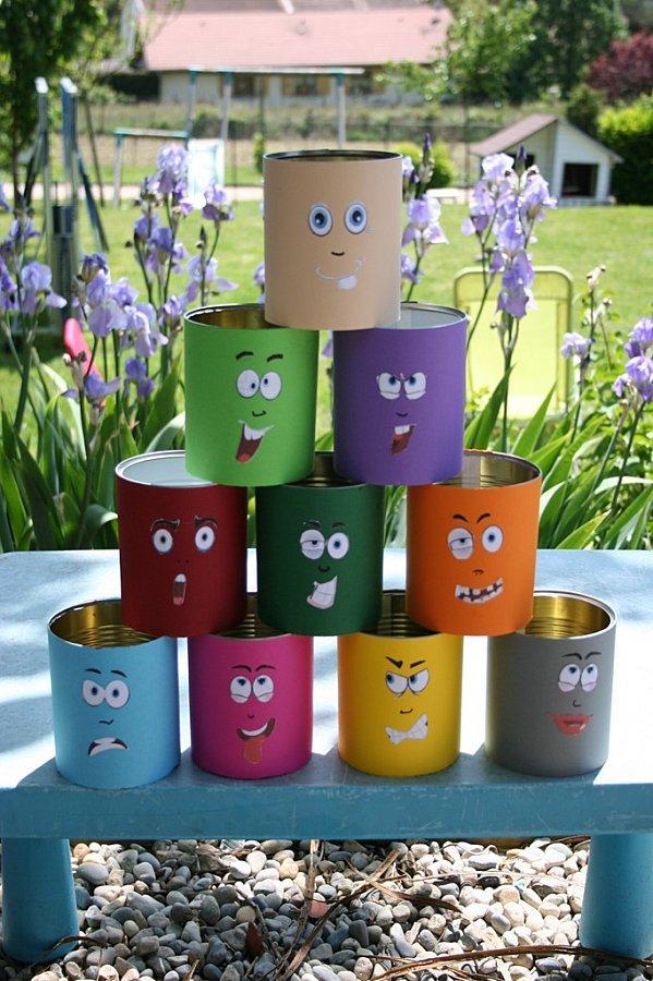 boites de conserve upcycling recyclage diy tuto anniversaire sur le thème de la fête foraine déco décoration
