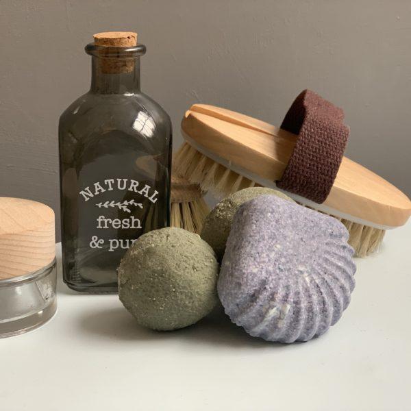 DIY bombes de bain fait main coquillage salle de bain tuto tutoriel - blog déco - clemaroundthecorner