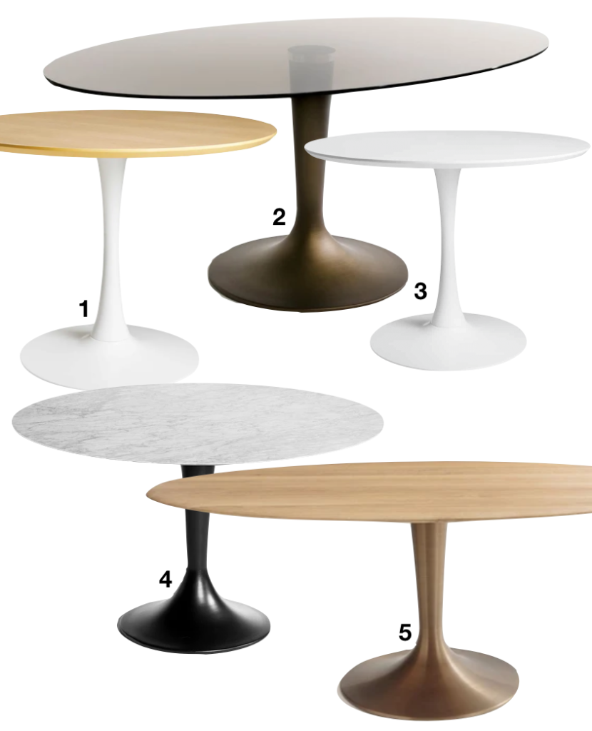 ou trouver une table ronde pied central rond trompette - blog déco - clem around the corner