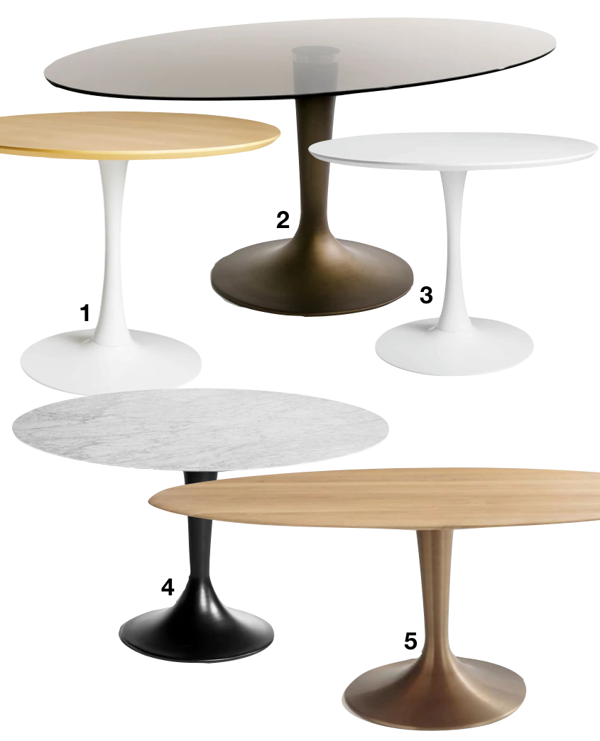 ou trouver une table ronde pied central rond trompette - blog déco - clem around the corner