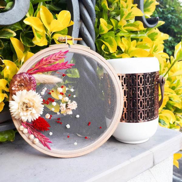 déco champêtre fleurs séchées tambour diy facile