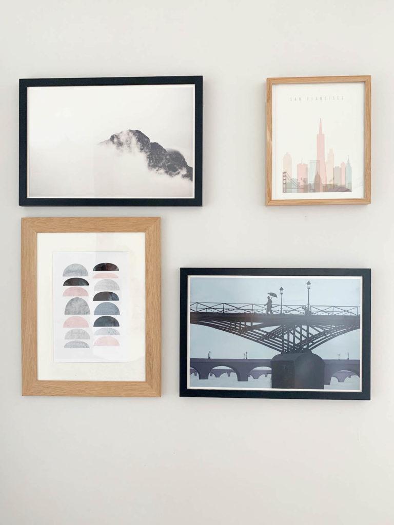 languettes accroches tableaux command mur de cadres sans trou test