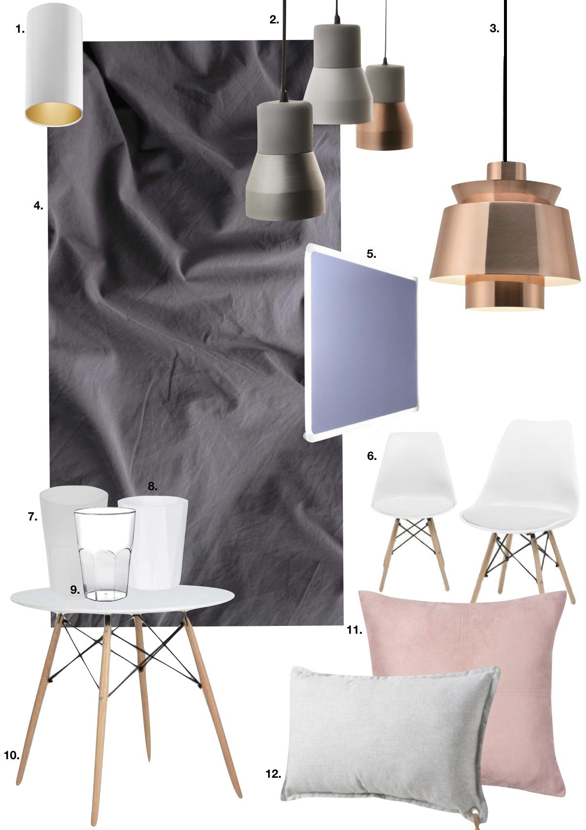 blog déco studio chambre design moderne pastel cuivré miroir LED