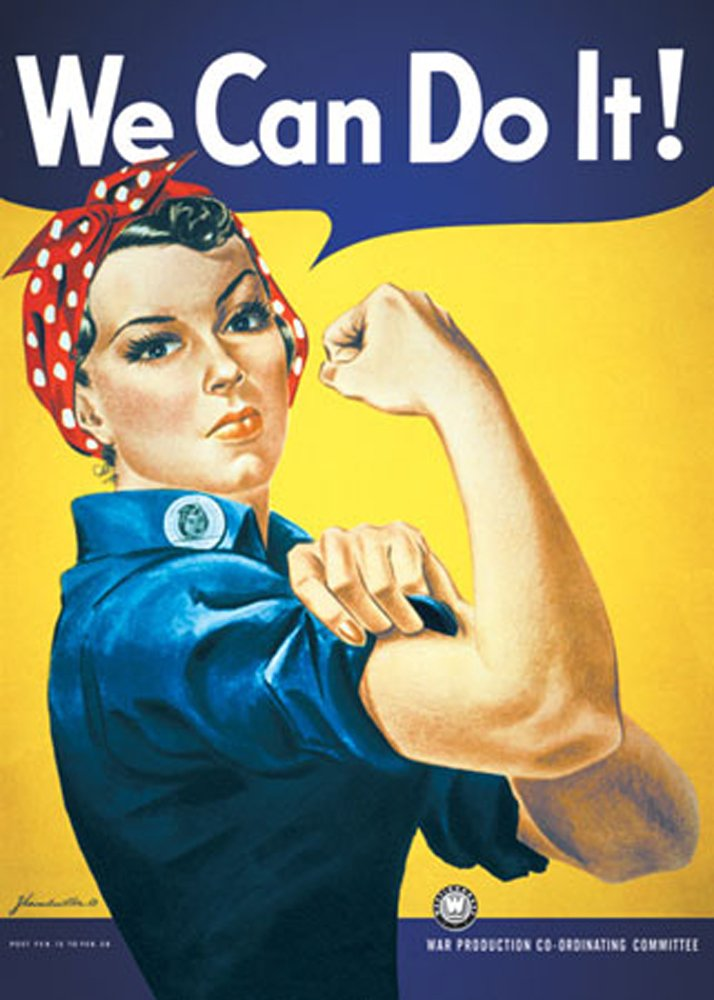 we can do it poster déco féministe - blog déco - décoration tendance clemaroundthecorner