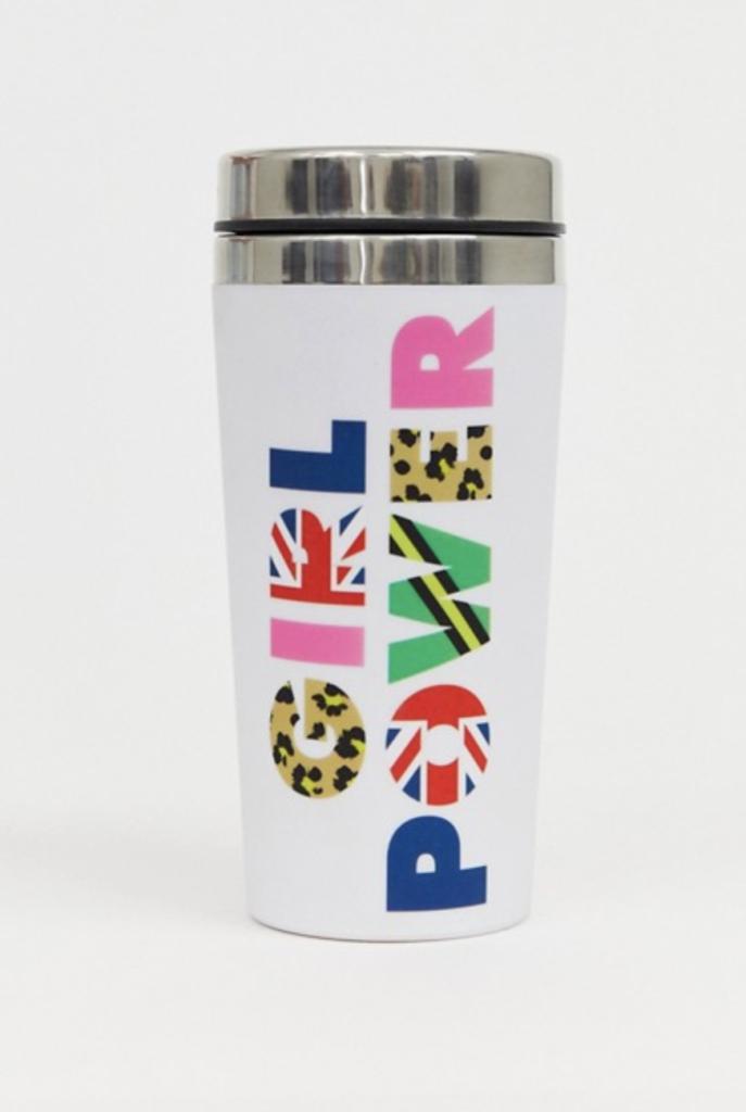 accessoire mug tasse voyage girl power thermos tasse de voyage - blog déco - clematc