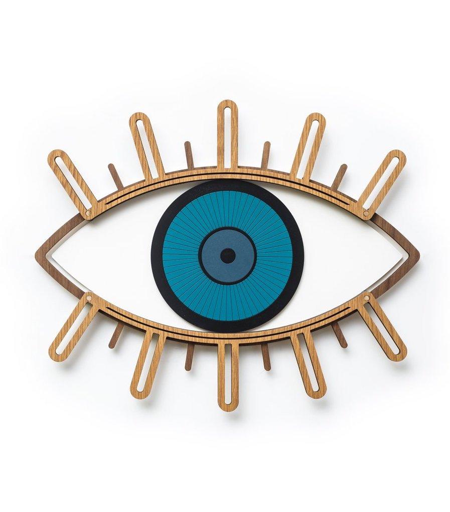 blog idée déco murale oeil laiton bleu salon chambre cuisine
