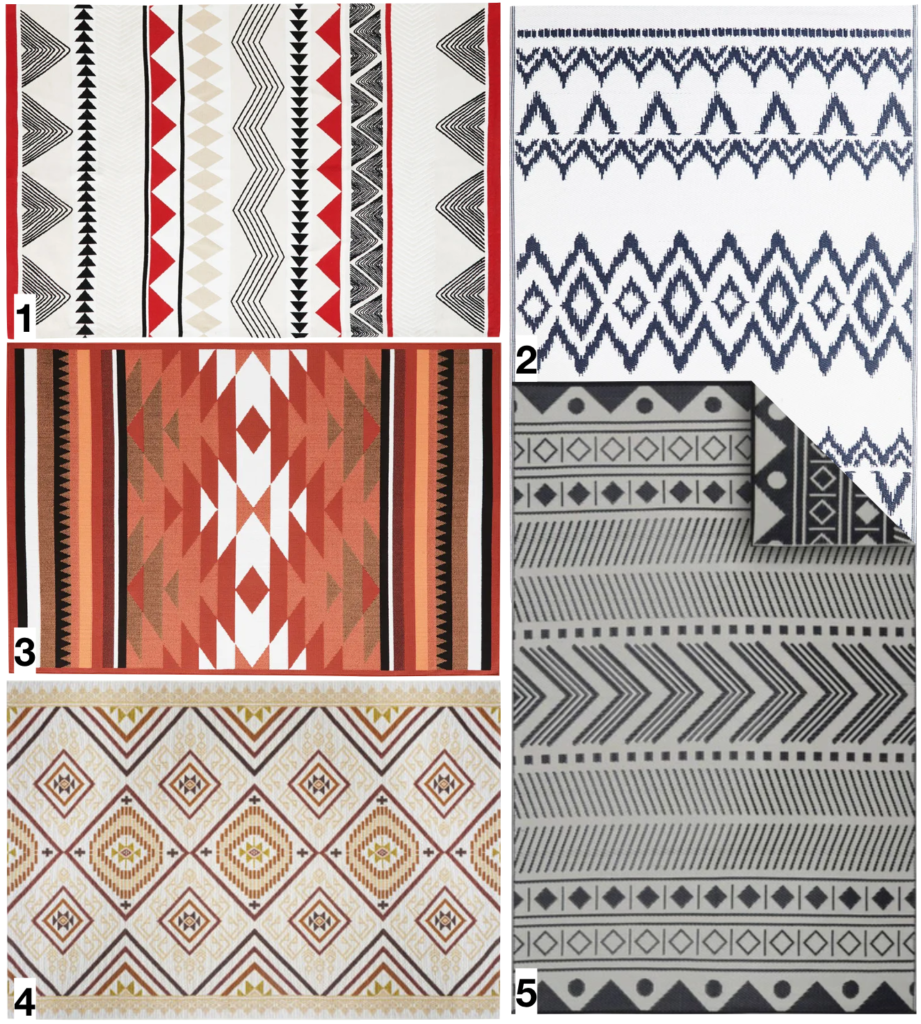 shopping liste où trouver un tapis d extérieur style ethnique - blog déco - clemaroundthcorner