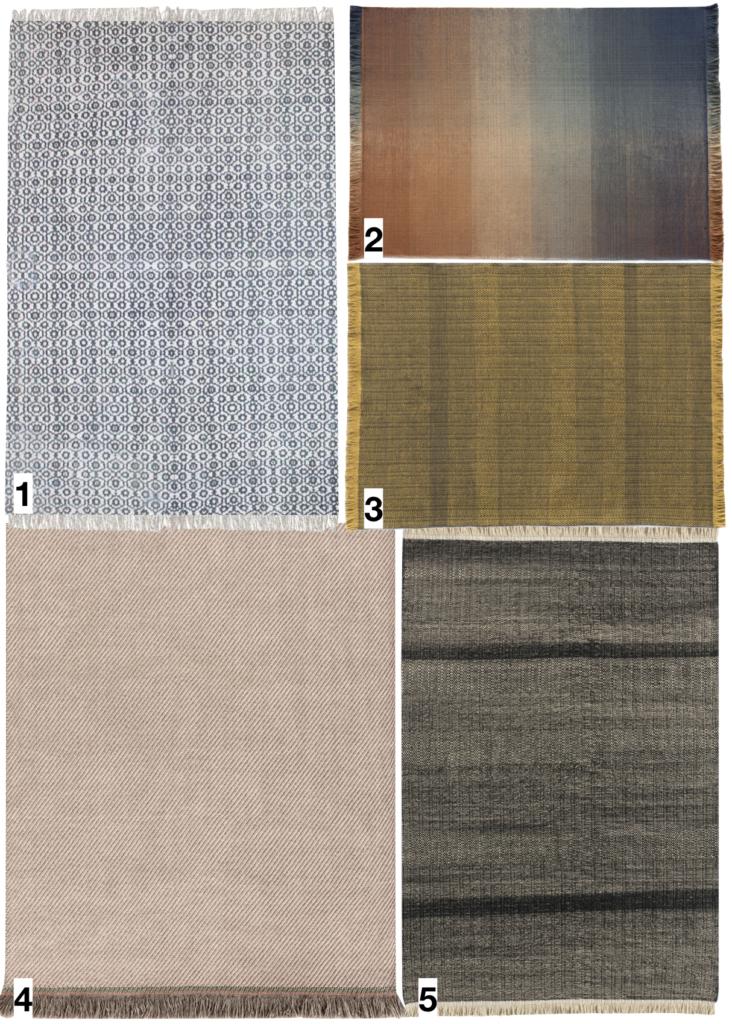 shopping liste où trouver un tapis d extérieur style frange beige motif bleu dégradé déco décoration