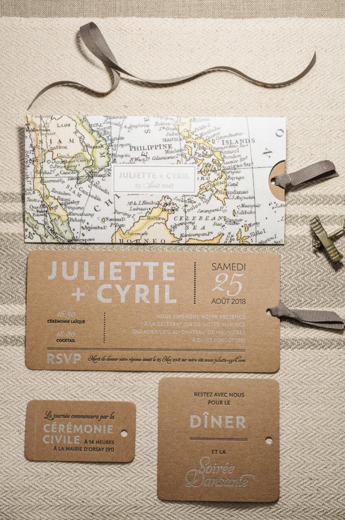 faire part mariage thème voyage tour du monde déco décoration carte - blog déco - clemaroundthecorner