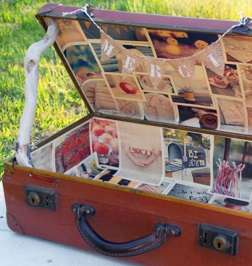 valise vintage livre d or original mariage thème voyage - blog déco - clemaroundthecorner
