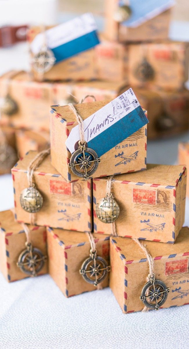 boîte dragées mariage thème voyage - blog déco - clemaroundthecorner