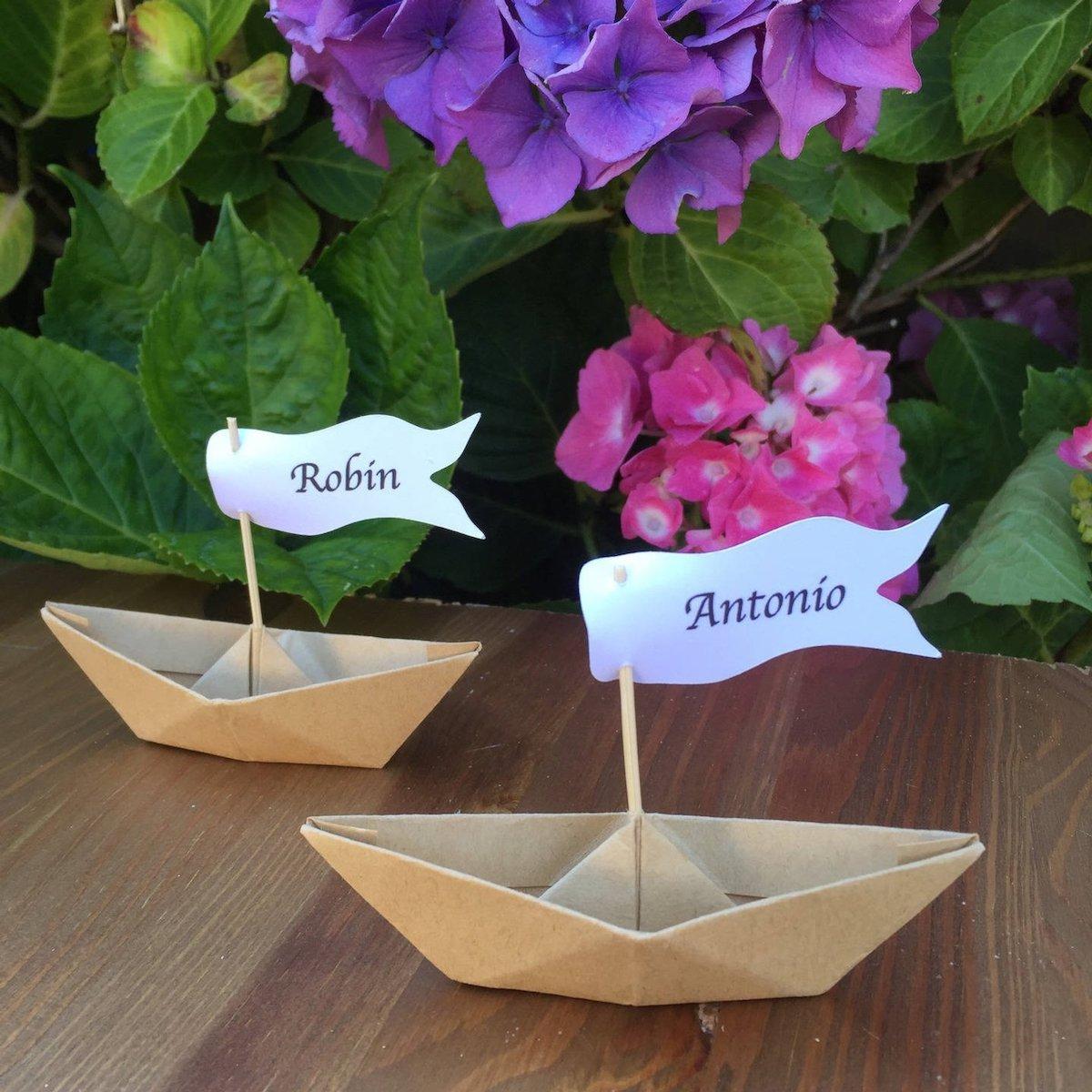 petit bateau marques-place mariagethème voyage tour du monde origami papier - blog déco - clemaroundthecorner