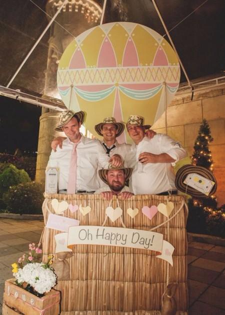 montgolfière coin photo photobooth thème mariage voyage -blog déco - décoration