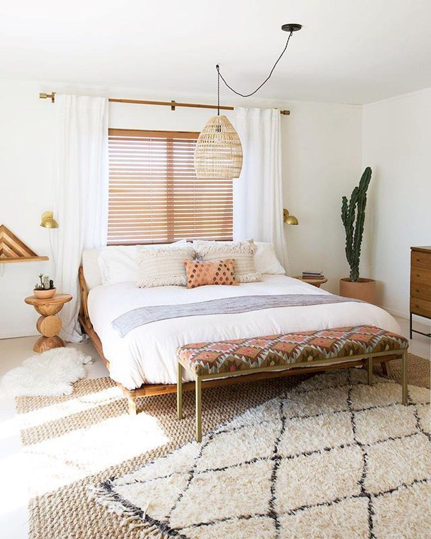 blog déco chambre bohémienne rose blanche scandi tapis berbère frange