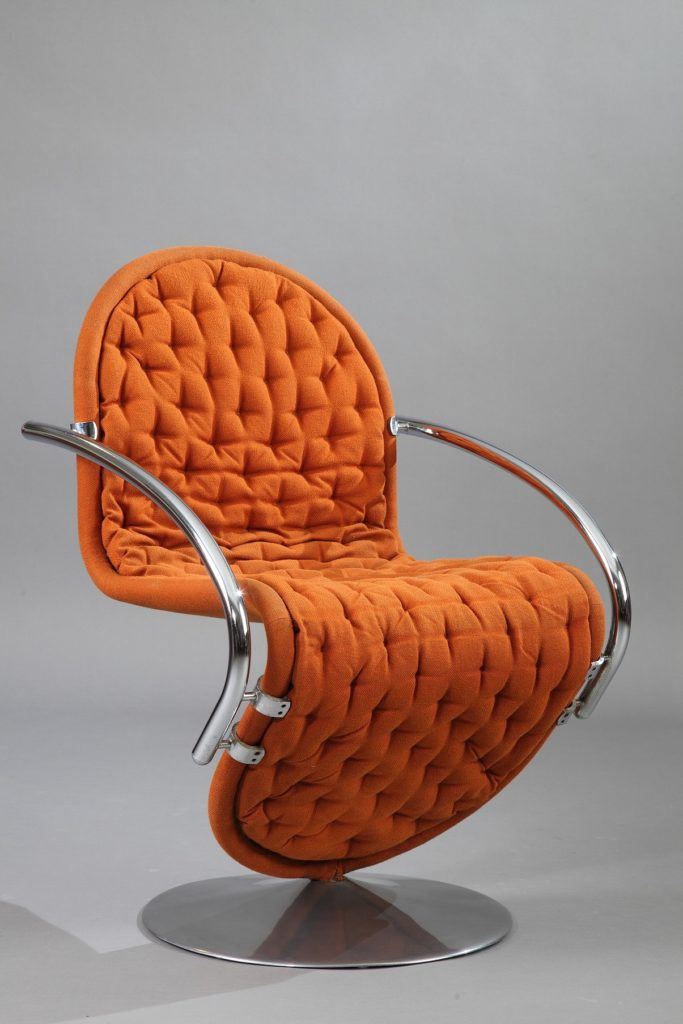 fauteuil panton orange revisité chaise design iconique vintage blog déco