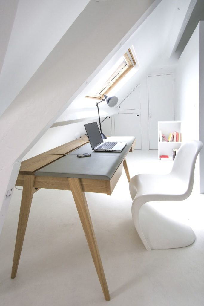 chaise panton icon design plastique blanc bureau lumineux scandi clemaroundthecorner