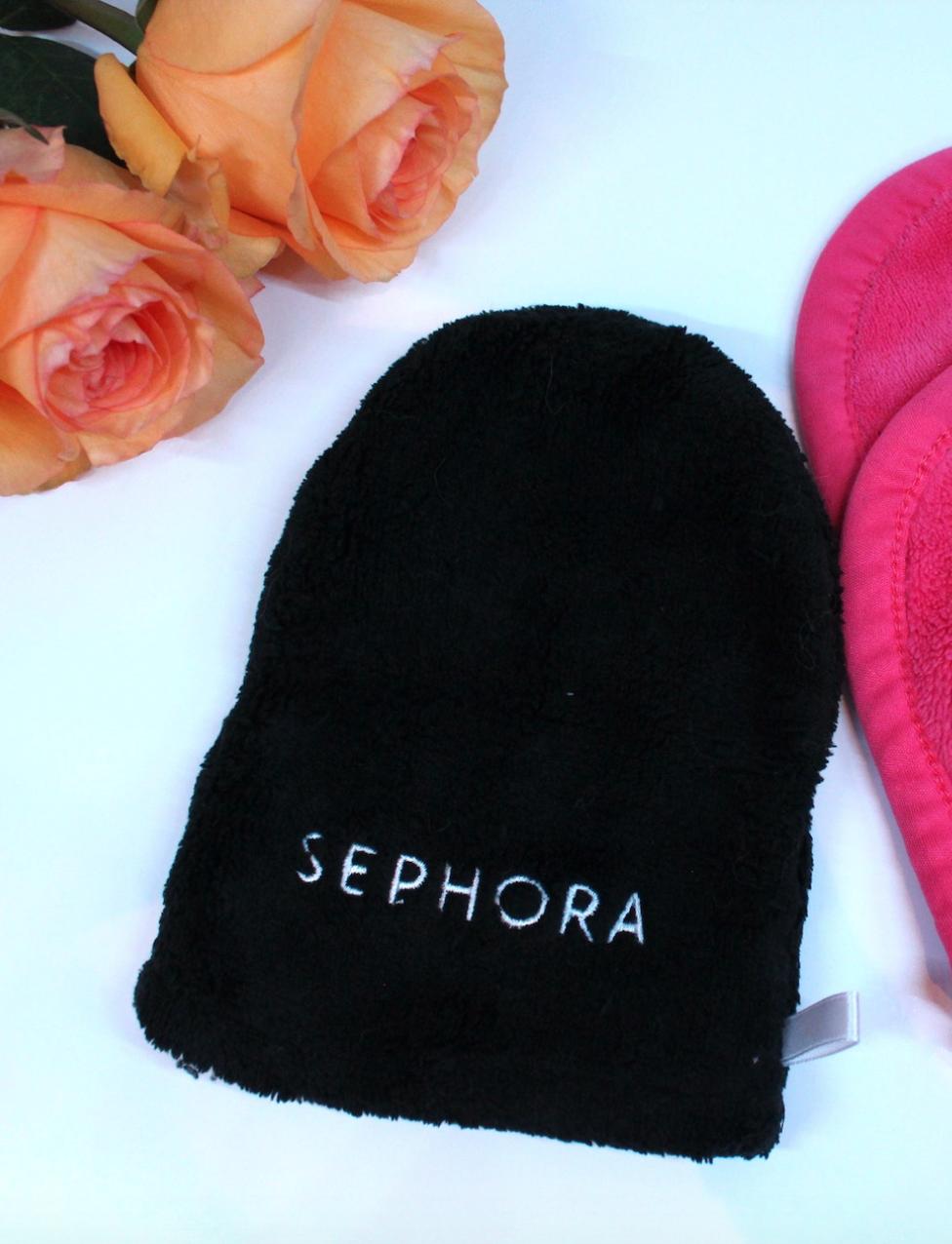 lingette démaquillante gant sephora démaquillant maquillage make-up salle de bain beauté rose orange serviette - blog - Clem ATC