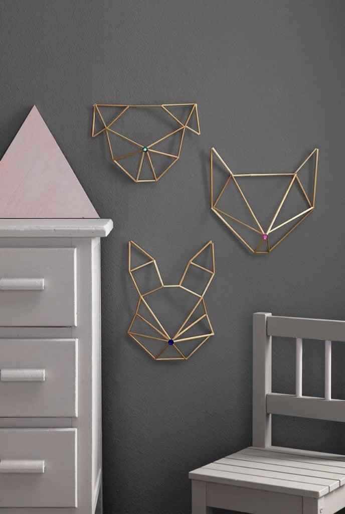 décoration murale pour chambre enfant chien chat lapin