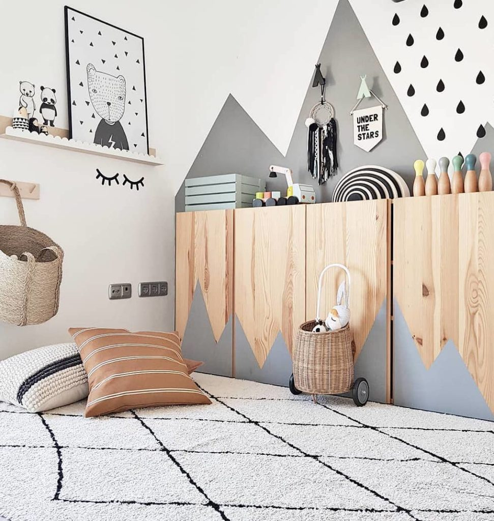 blog déco tuto bricolage commode bois bleu pastel chambre enfant