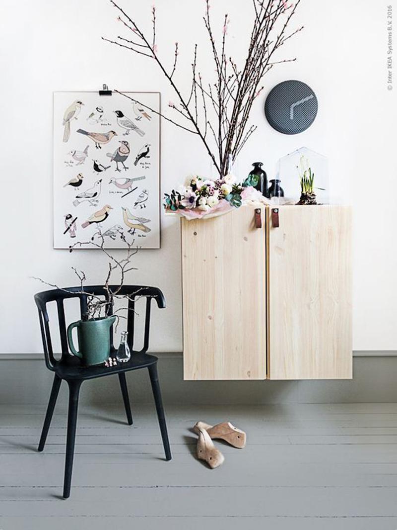 bricolage facile personnalisation meuble bois poignée cuir déco printanière clemaroundthecorner