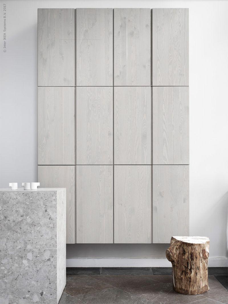 astuce diy caisse bois ivar ikéa hack gris sobre élégant salon - blog déco