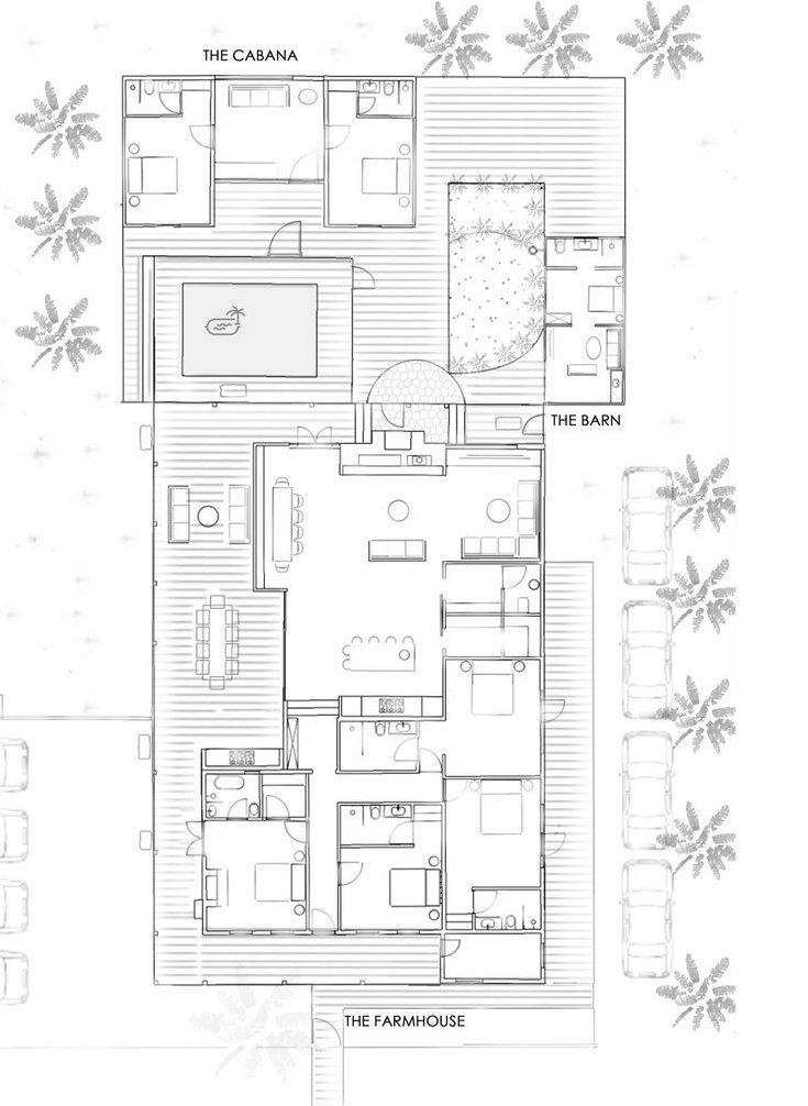 plan maison de vacances transformation d'une ferme en une maison d'hôte blog déco