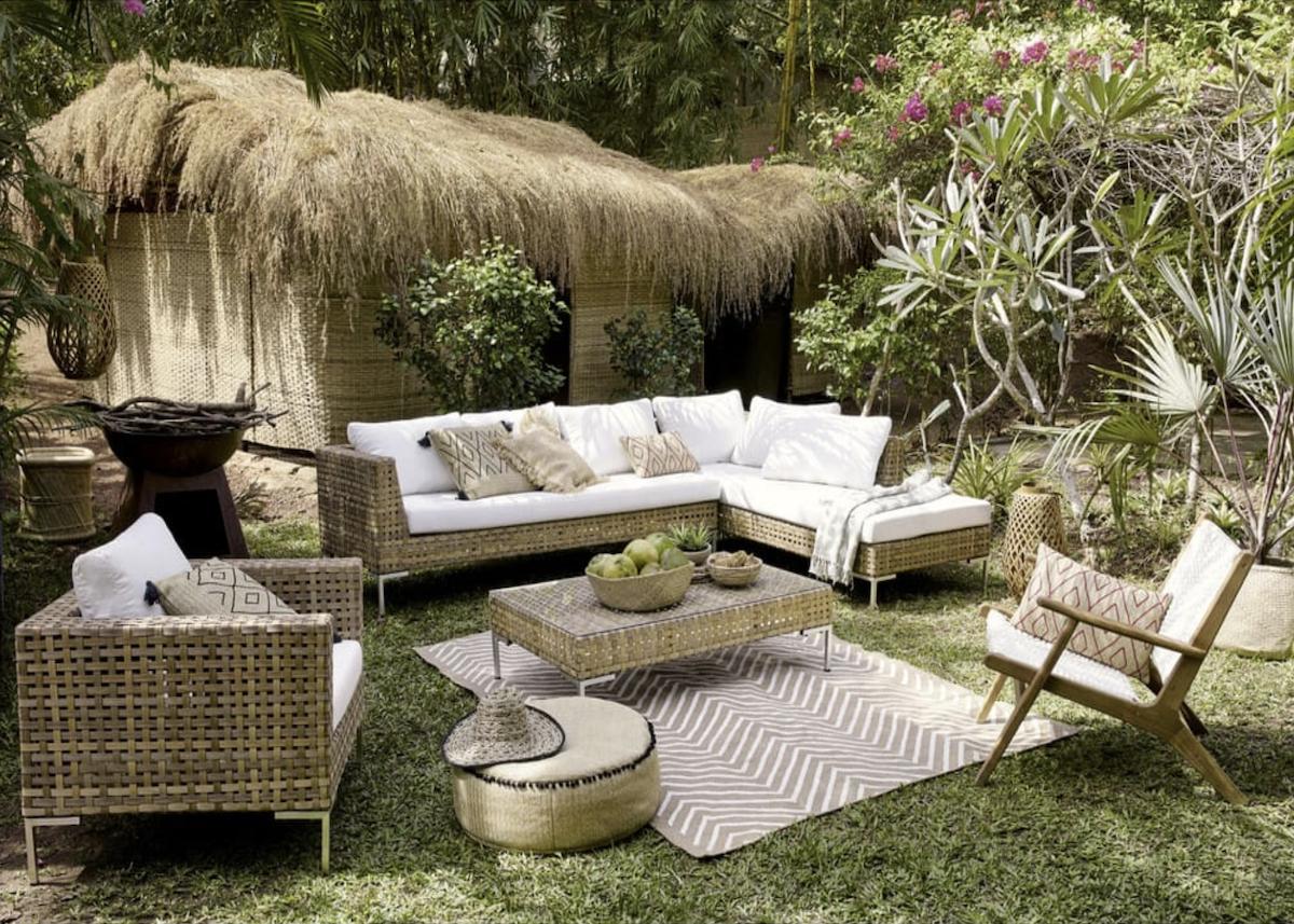 Coin Détente Petit Jardin Zen où trouver un tapis extérieur pas cher - clem around the corner