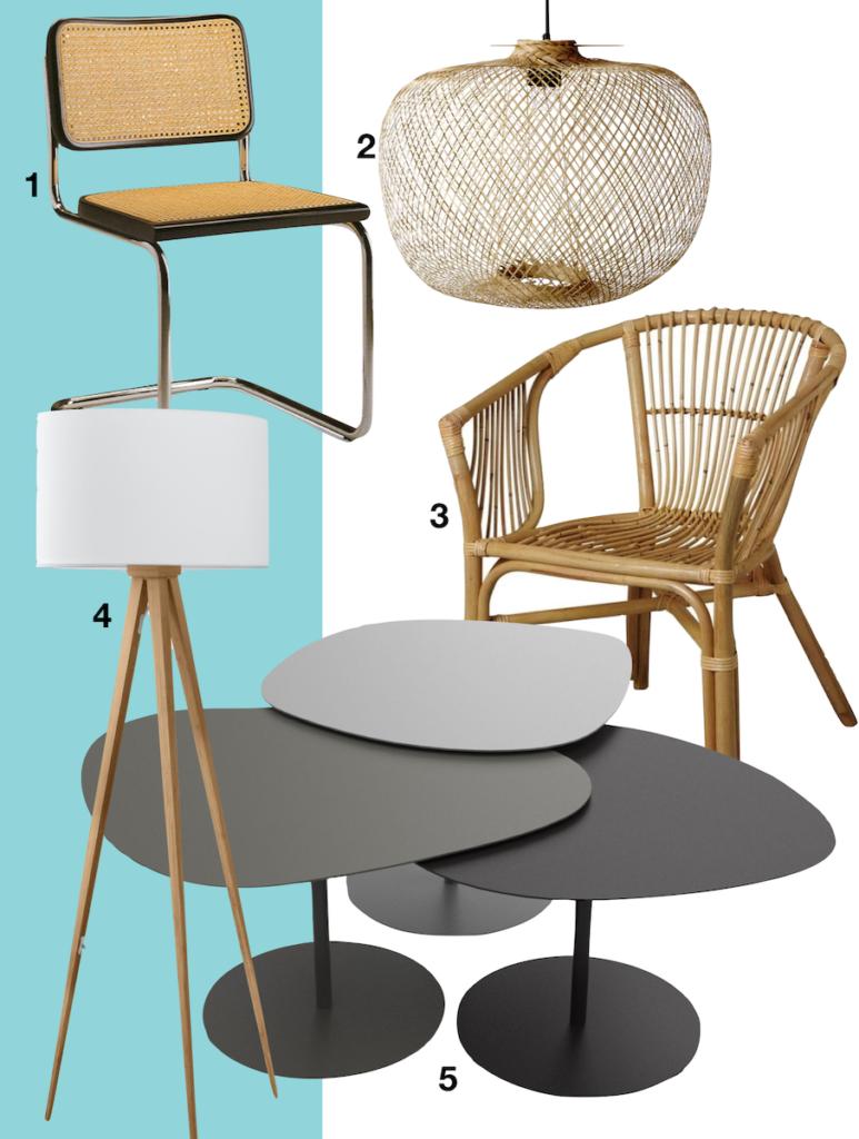 shopping liste chaise marcel breuer fauteuil rotin suspension luminaire table basse galets lampadaire trépieds bois maison saint-raphaël - blog déco - clemaroundthecorner
