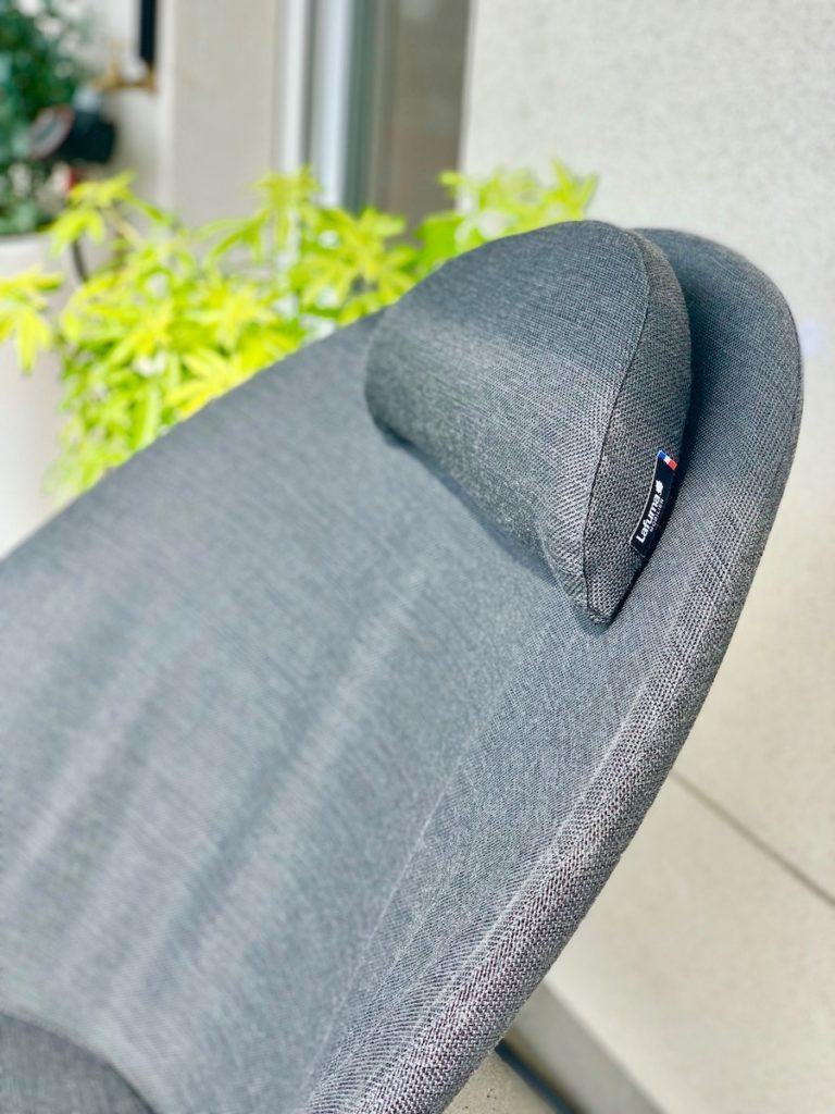 dossier fauteuil gris noir plante verte coussin tête - blog déco - clemaroundthecorner
