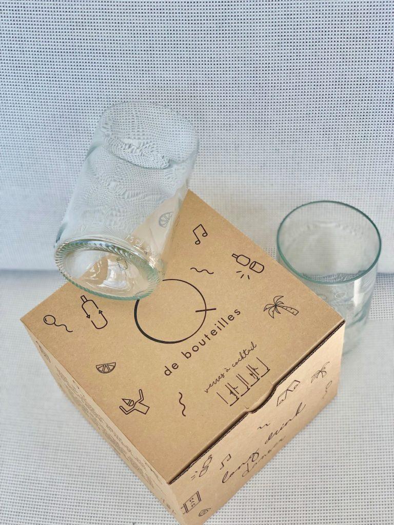 verre Q de bouteilles coffret 4 verres transparent - blog déco - clemaroundthecorner