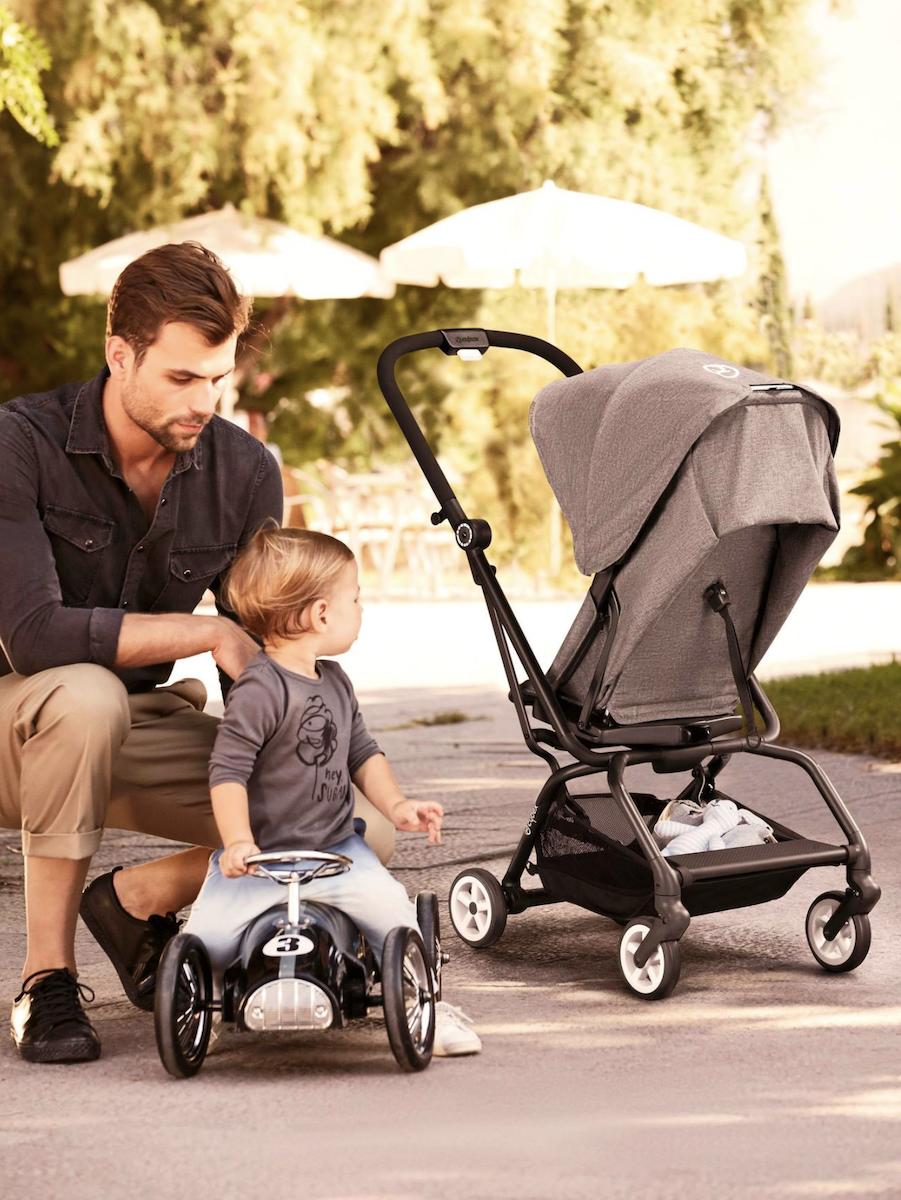 eezystwist cybex global poussette grise tendance confort pour bébé clematc