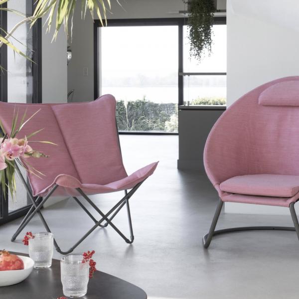 lafuma mobilier extérieur et intérieure tendance et design couleur rose - blog déco - clemaroundthecorner