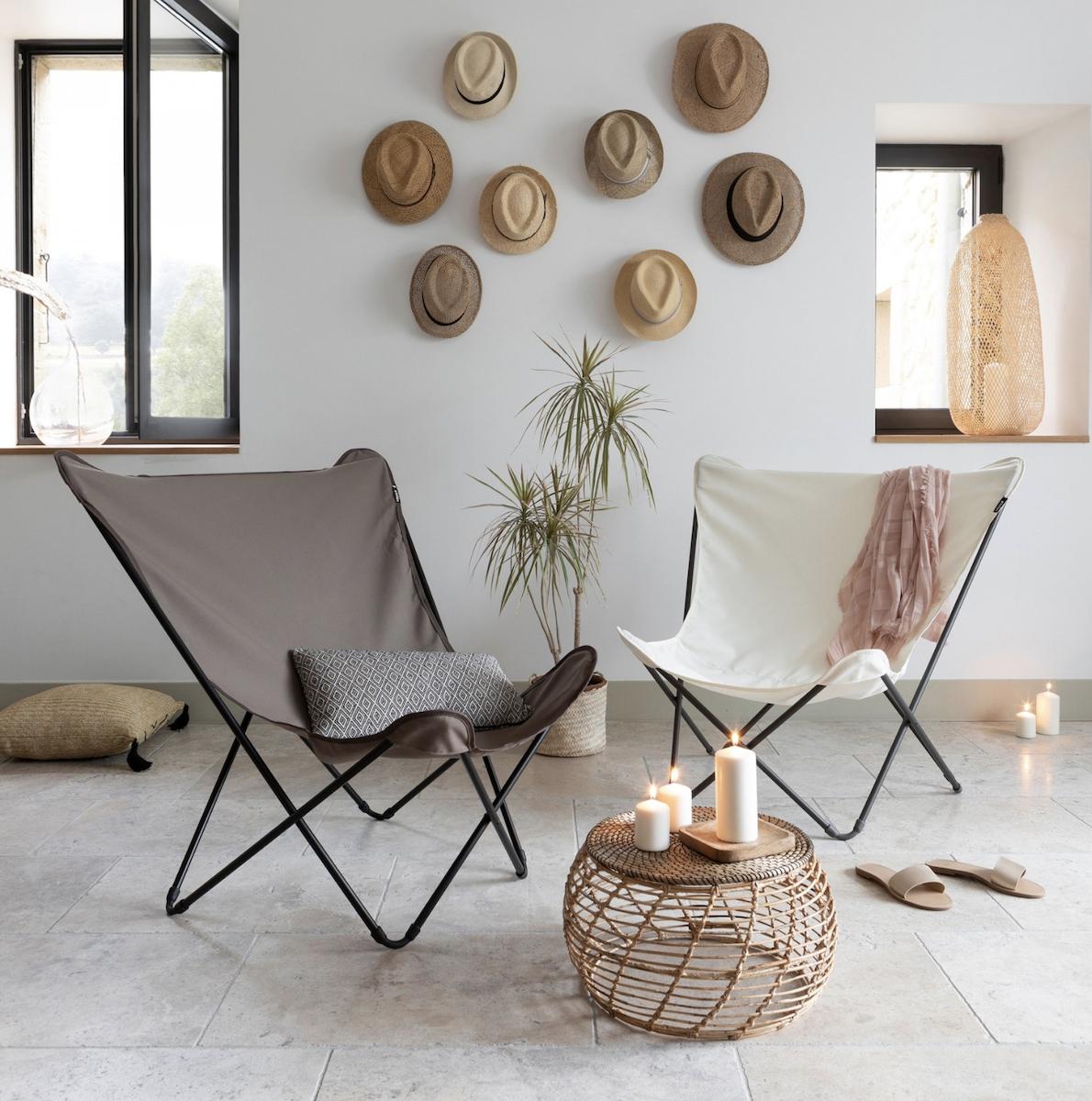 fauteuil design pop up xl kaki Lafuma mobilier intérieur et extérieure design et confortable - blog déco - clematc