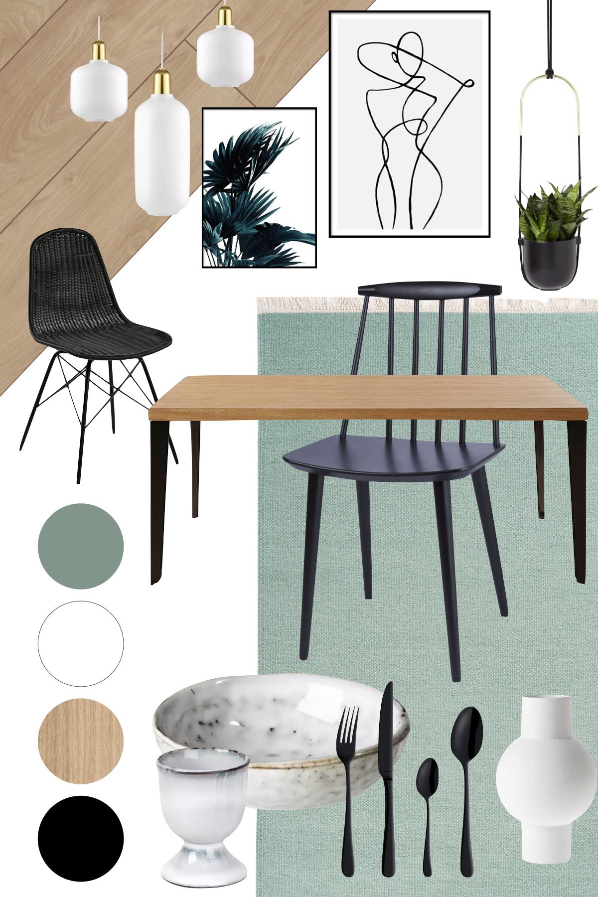 planche déco salle à manger vert de gris tendance comment faire technique maisons pierre avis - blog déco - clem around the corner