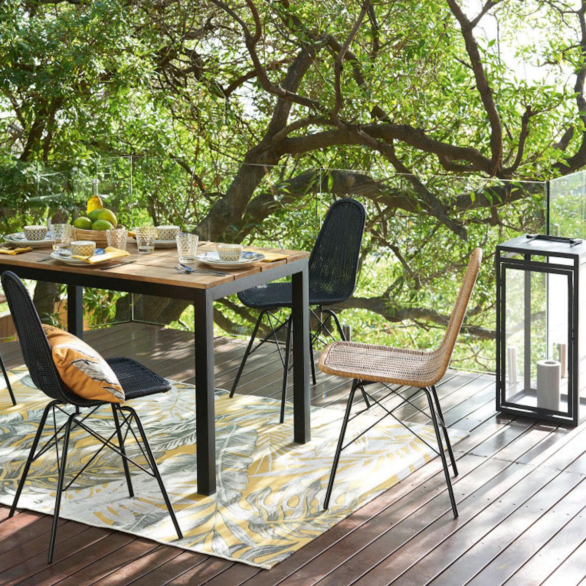 mobilier outdoor maisons du monde ambiance urban jungle - blog déco - clem around the corner