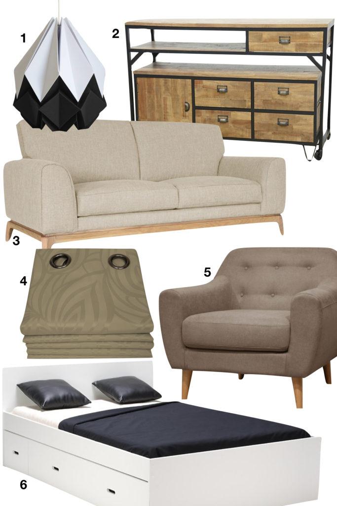 shopping liste made in france meuble mobilier de décoration canapé fauteuil lampe - blog déco - clematc
