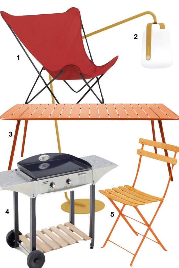shopping liste camif fermob mobilier de jardin table chaiselafuma - clematc