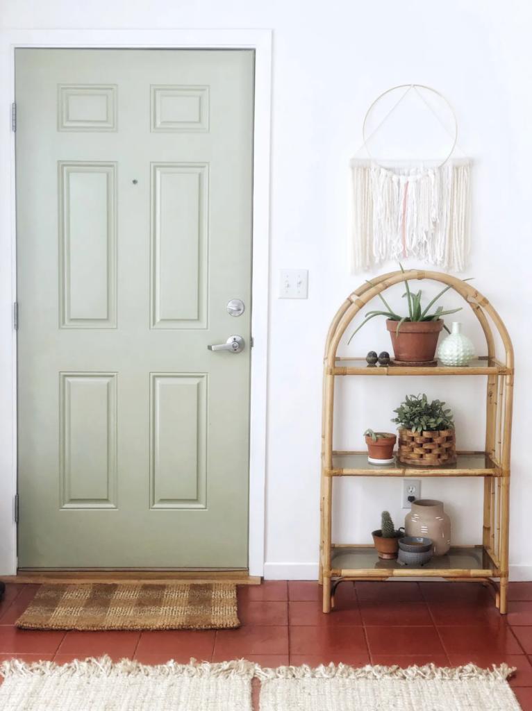 entrée d une maison solarium washington porte verte meuble bambou - blog déco - clemaroundthecorner