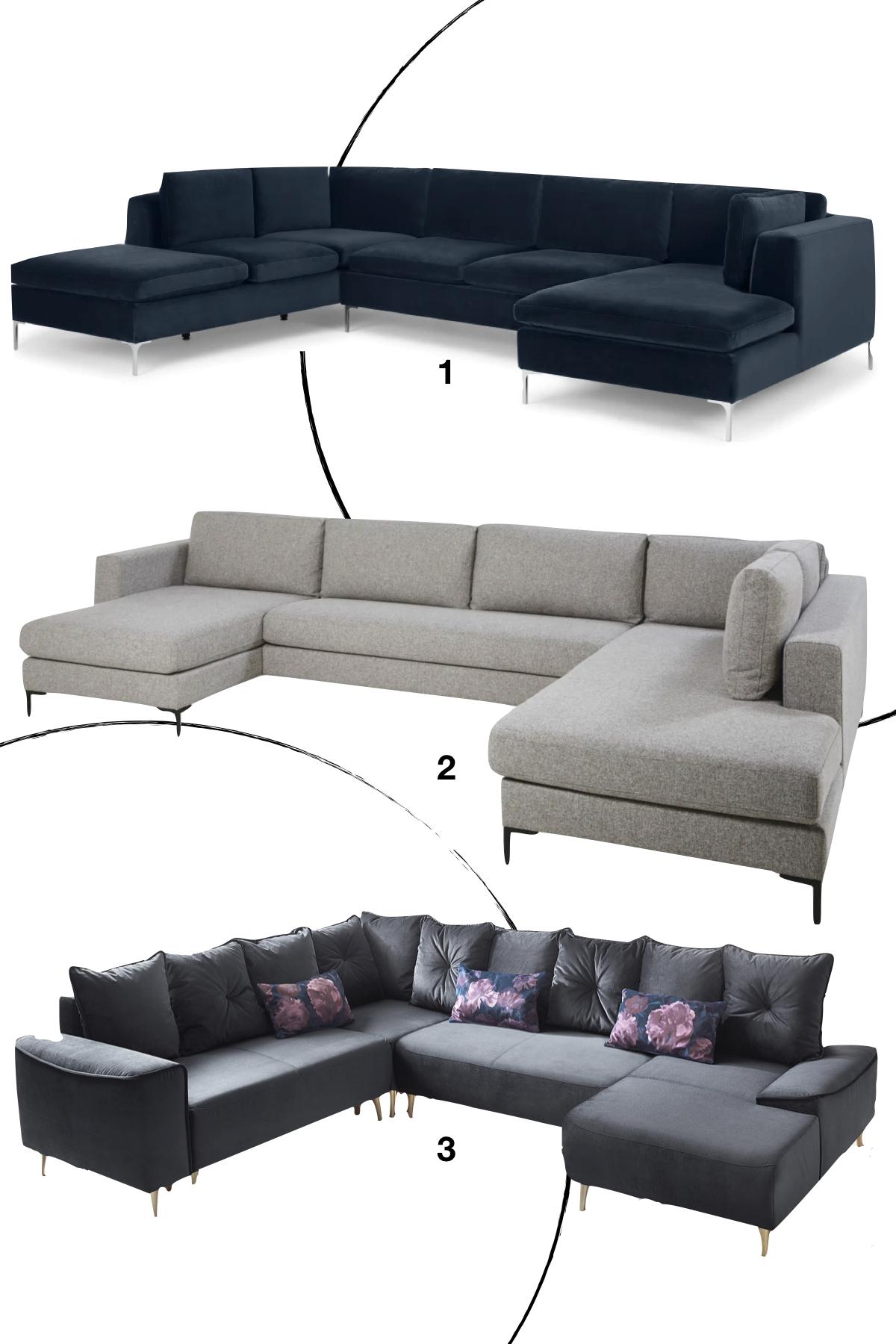 shopping liste design sofa velours tissu style minimaliste épuré tendance - blog déco - clematc