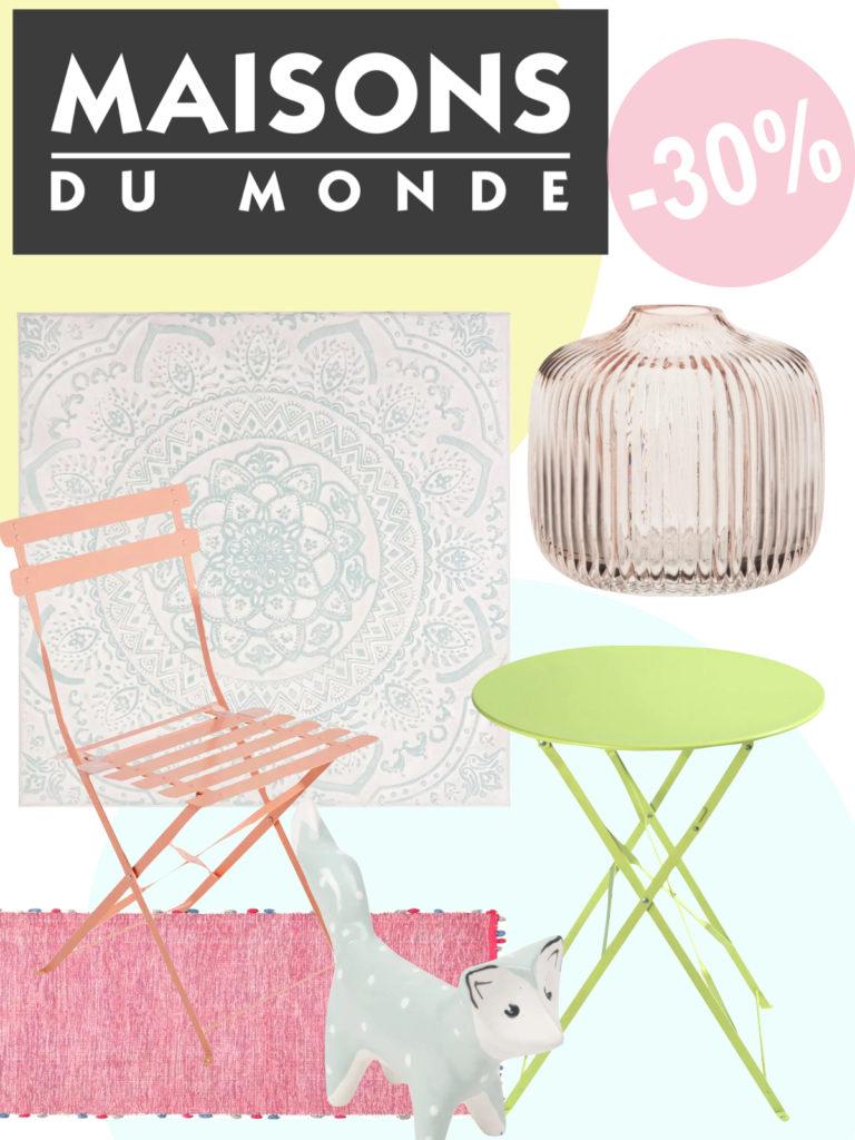 soldes couleurs blush clairs pastels table de jardin chaise tapis vase cadre - blog déco - clemaroundthecorner