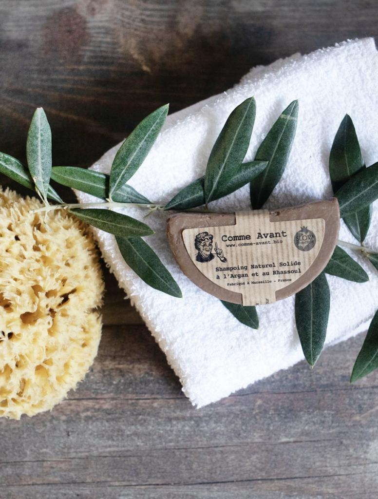 shampoing solide argan rhassoul cosmétique biologique naturel clemaroundthecorner
