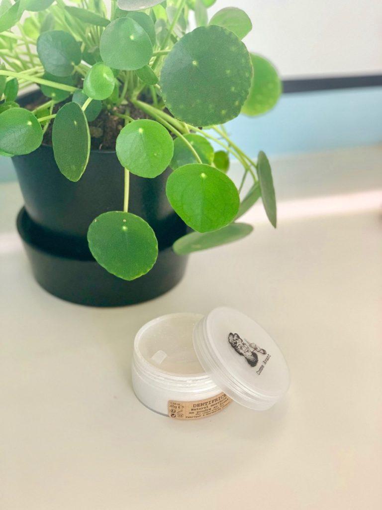 dentifrice poudre bio produit cosmétiques piléa salle de bain - blog déco - clematc
